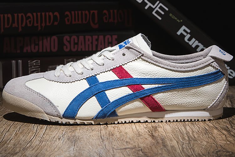 good quality release date online here Onitsuka Tiger Mexico 66 VIN (Plicated White/ Blue/ Red) Shoes ...