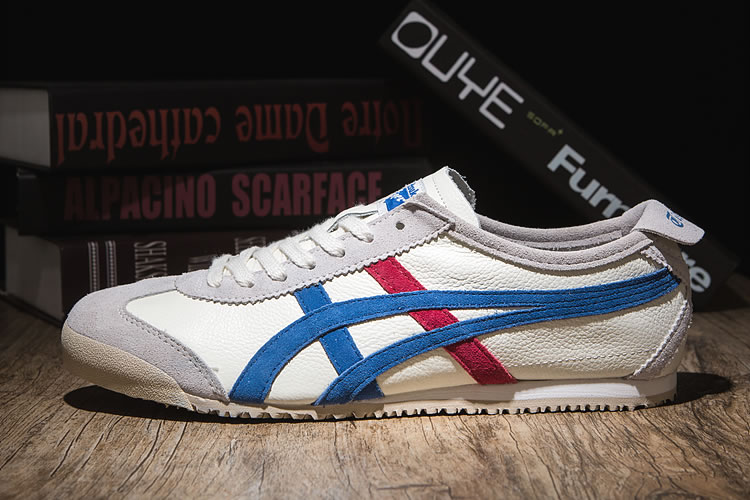 Onitsuka Tiger Mexico 66 VIN (Plicated White/ Blue/ Red) Shoes