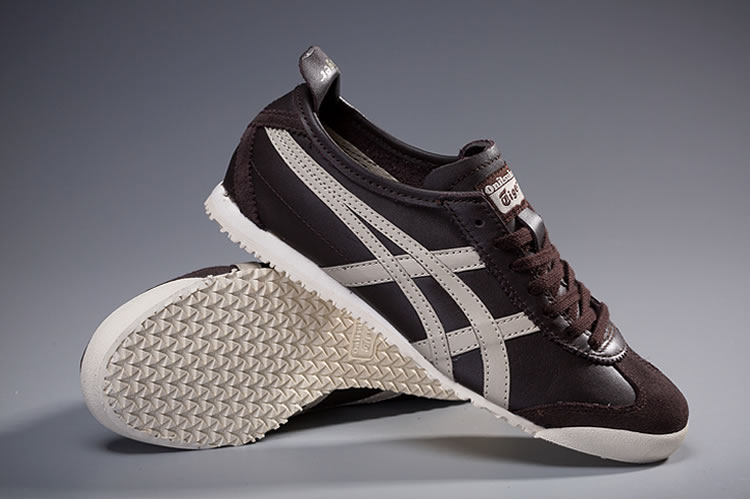 Onitsuka Tiger Mexico 66 (Cocoa/ Khaki) Shoes - Click Image to Close