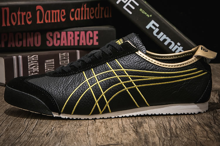 Onitsuka Tiger Mexico 66 (Black/ Gold) Shoes
