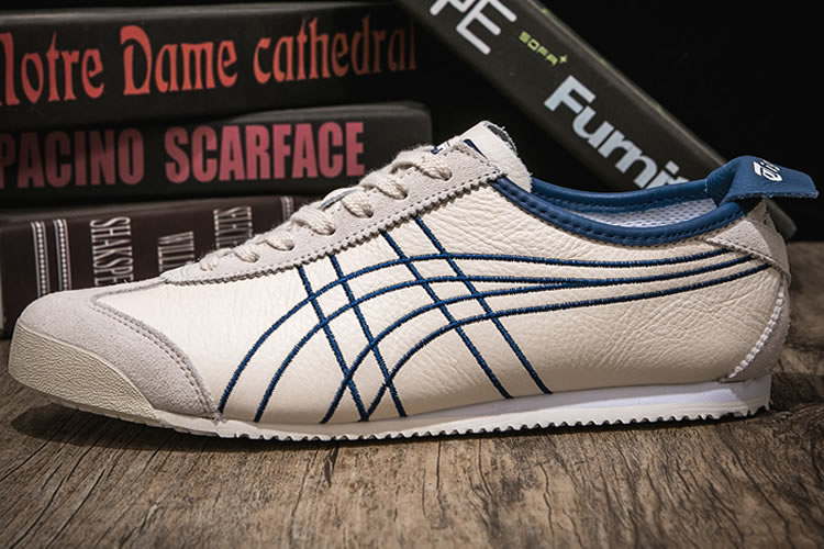 Onitsuka Tiger Mexico 66 (Beige/ Blue) Shoes