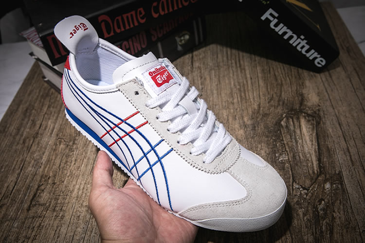 Onitsuka Tiger Mexico 66 (White/ Blue/ Red) Shoes