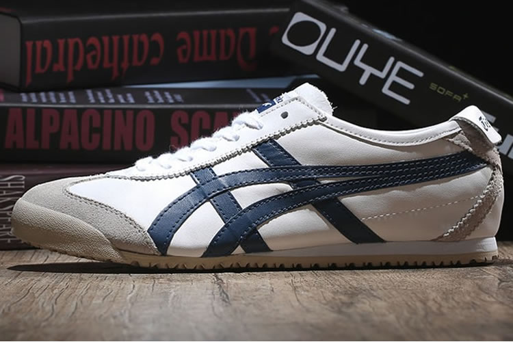 (Beige/ DK Blue) Onitsuka Tiger Mexico 66 Shoes