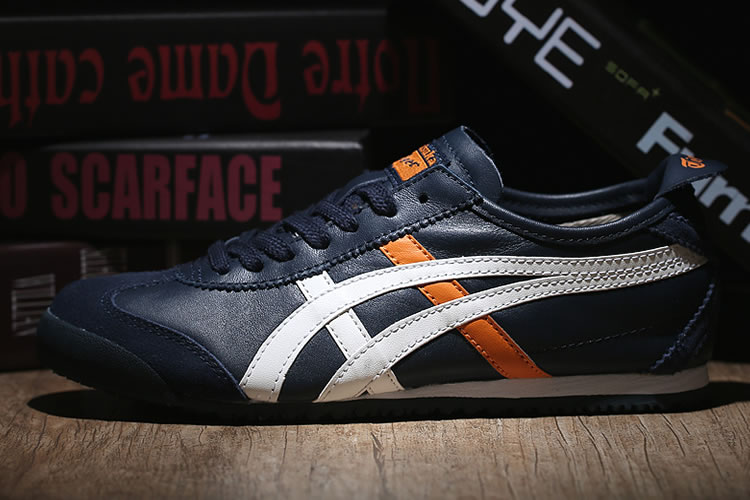 (DK Blue/ White/ Orange) Onitsuka Tiger Mexico 66 Shoes