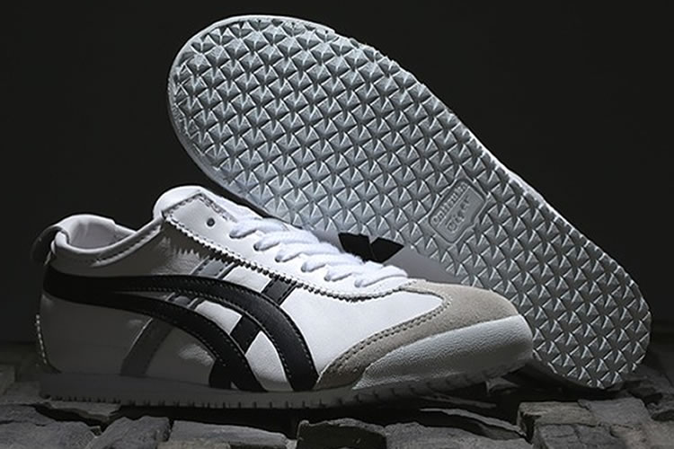 (White/ Black/ Silver) Onitsuka Tiger Mexico 66 Shoes - Click Image to Close