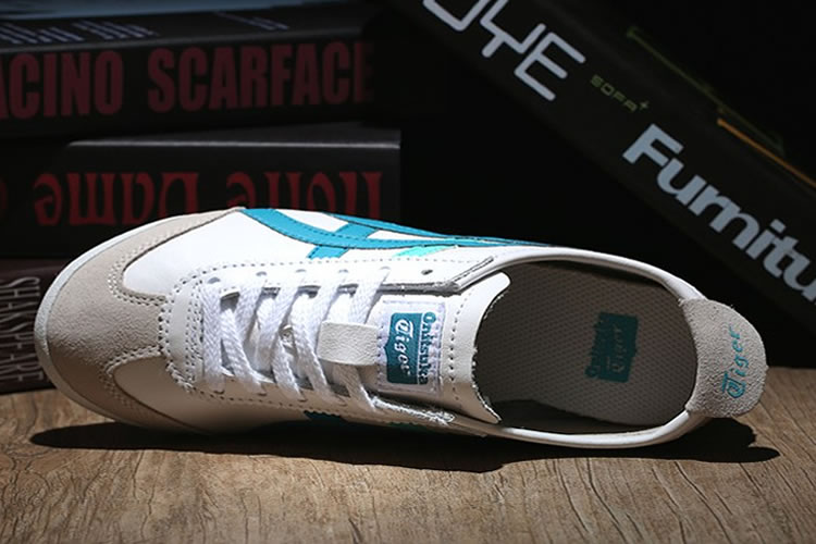 Onitsuka Tiger Mexico 66 (White/ LT Blue/ Green) Shoes