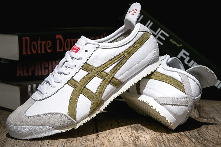 Onitsuka Tiger Mexico 66 (White/ Gold) New Shoes