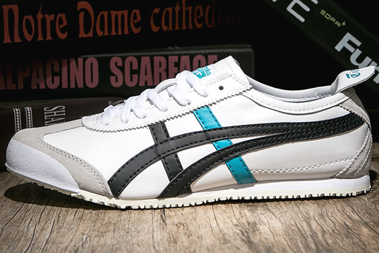 Onitsuka Tiger Mexico 66 Shoes (White/ Black/ turquoise)