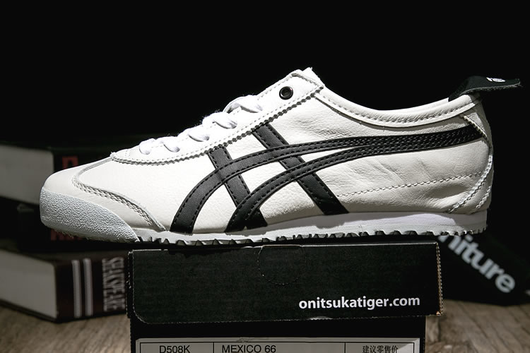 (White/ Black) Onitsuka Tiger Mexico 66 shoes - Click Image to Close