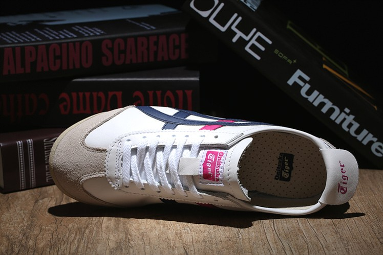 (White/ DK Blue/ Peach) Onitsuka Tiger Mexico 66 Shoes