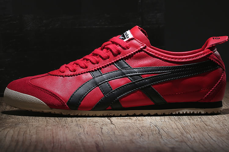 (Red/ Black) New Onitsuka Tiger Mexico 66 Shoes - Click Image to Close