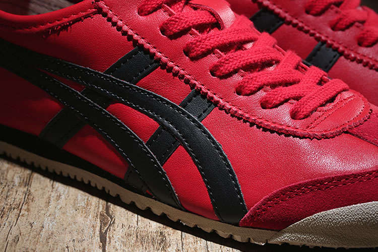 (Red/ Black) New Onitsuka Tiger Mexico 66 Shoes