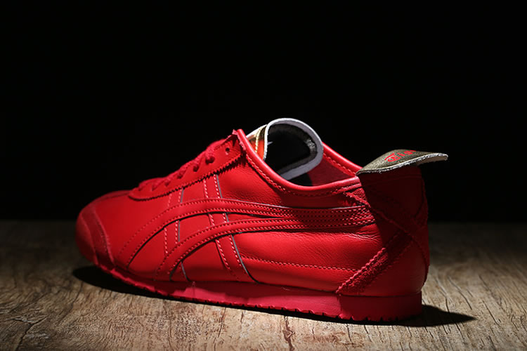 (Red/ Gold) Onitsuka Tiger Mexico 66 New Shoes