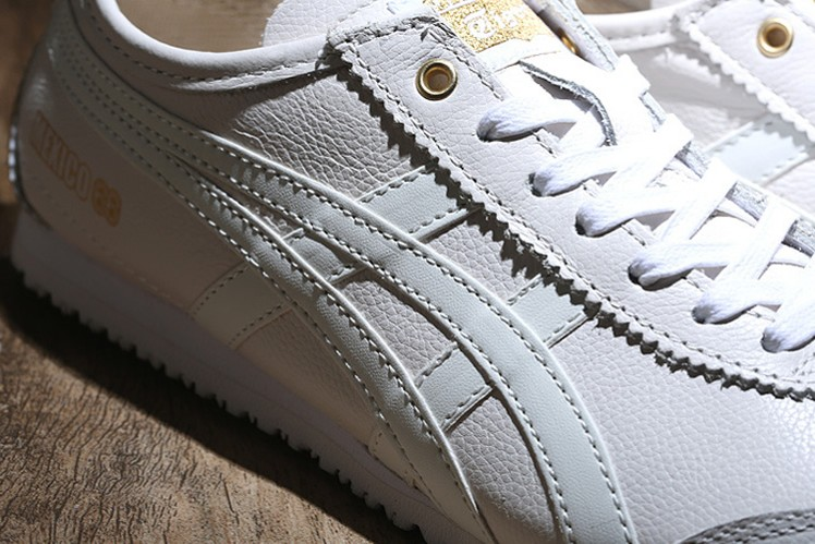 (White/ Gold) New Onitsuka Tiger Mexico 66 Shoes