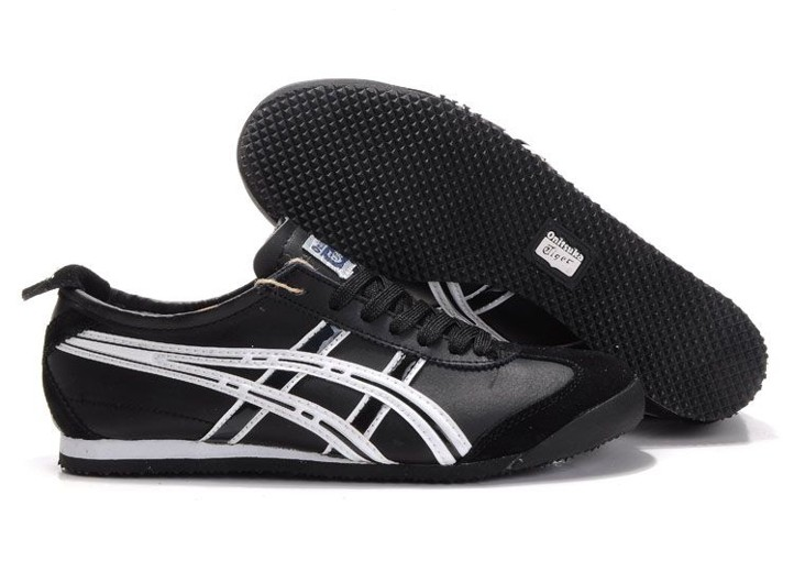 Mens Onitsuka Tiger Mexico 66 Black White Shoes
