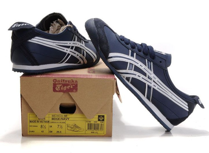 separation shoes b2fe6 40cc5 Asics Men's Onitsuka Tiger Mexico 66 (Navy/ White)