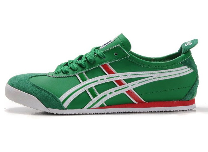 Mens Onitsuka Tiger Mexico 66 (Green/ White/ Red) Shoes