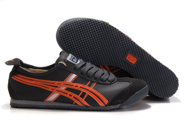 Mens Onitsuka Tiger Mexico 66 (Grey/ Orange) Shoes