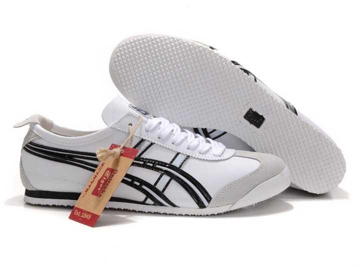 Mens Onitsuka Tiger Mexico 66 (White/ Black/ Silver) Shoes
