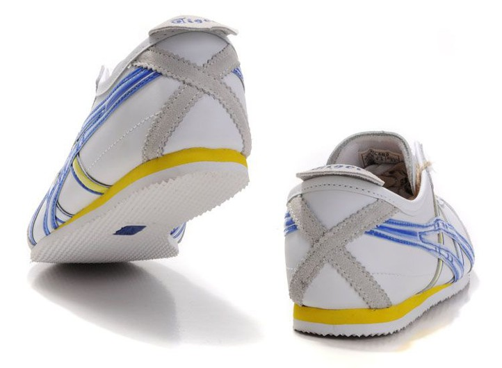 uk availability bb484 fed3c Mens Onitsuka Tiger Mexico 66 Shoes (White  Blue  Yellow)