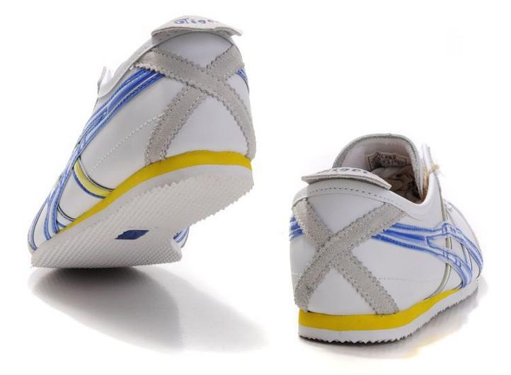 official photos 0a03c 9cbd2 Mens Onitsuka Tiger Mexico 66 Shoes (White/ Blue/ Yellow ...