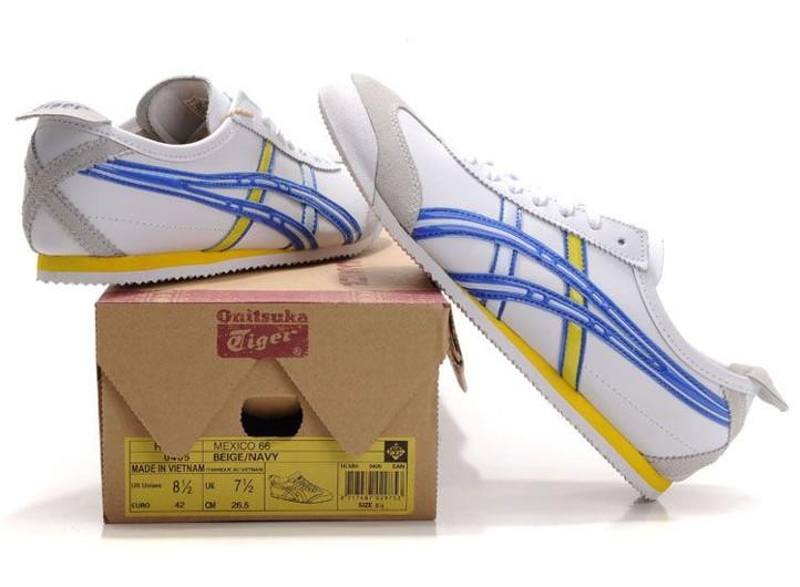 Onitsuka Tiger Mexico 66 Zapatos Asics De Los Hombres - Blanco / Azul jTQlxryR