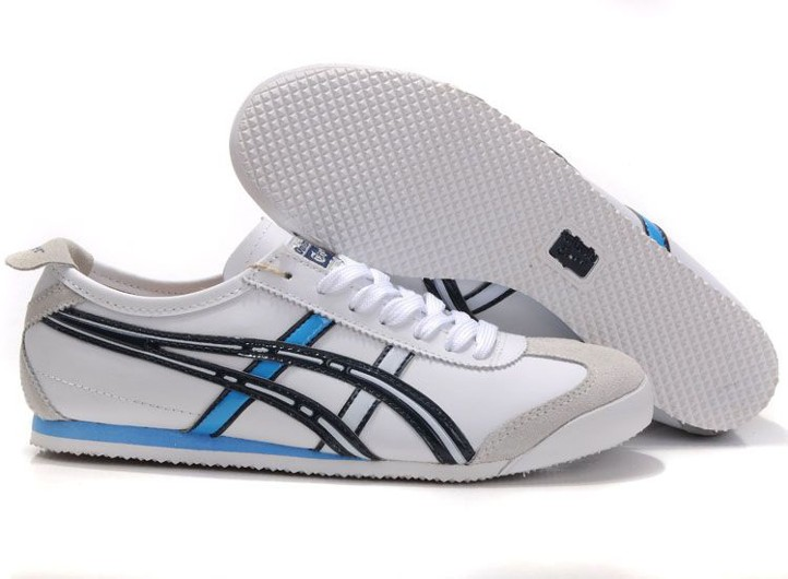 Mens Onitsuka Tiger Mexico 66 Shoes (White/ Black/ Blue)