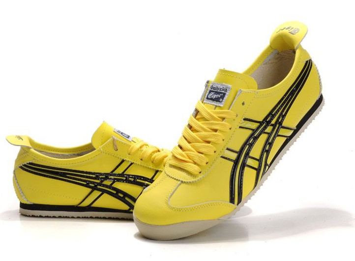 Men's Onitsuka Tiger Mexico 66 Yellow Black Shoes