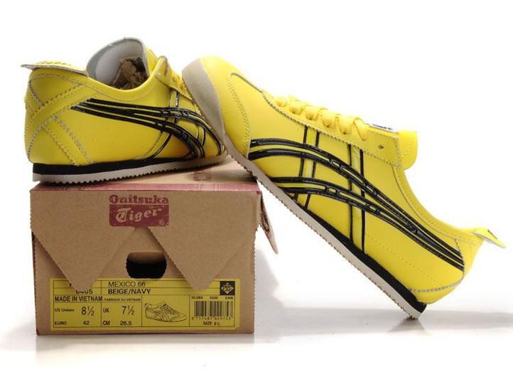 Men s Onitsuka Tiger Mexico 66 Yellow Black Shoes Men s Asics ... 85ccc8e7a