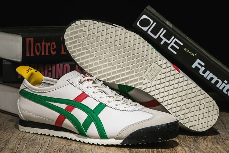 Onitsuka Tiger Mexico 66 SD (Beige/ Green/ Red/ Yellow) Shoes