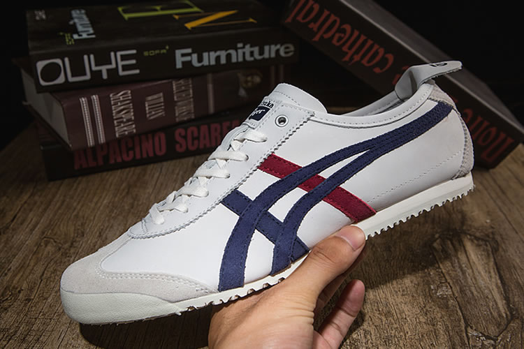 new styles 92878 90dc8 Beige/ DK Blue/ Red) Onitsuka Tiger Mexico 66 New Shoes ...