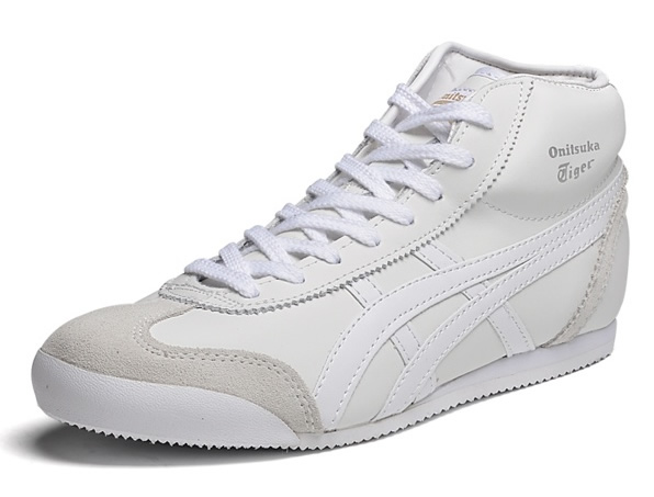 All White Onitsuka Tiger Mid Runner Shoes (Added Villus)