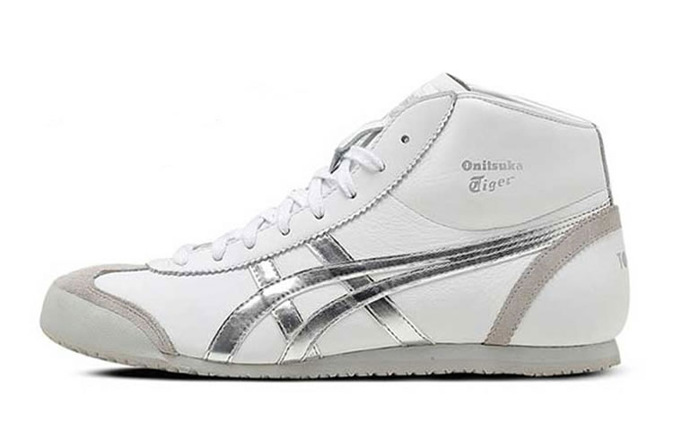 (White/ Silver) Onitsuka Tiger Mexico Mid Runner Shoes