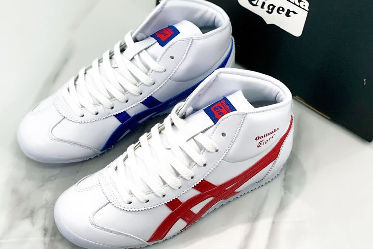 Onitsuka Tiger Mid Runner (Mix-and-Match by Red/ Blue) Shoes