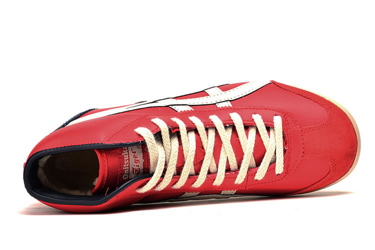 (Red/ Beige/ Navy) Onitsuka Tiger Mid Runner Shoes