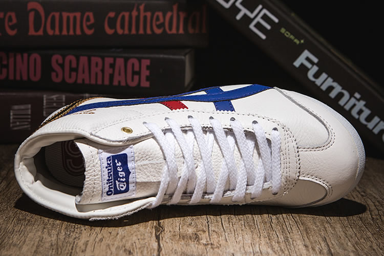 Onitsuka Tiger Mid Runner (White/ Blue/ Red/ Gold) Shoes