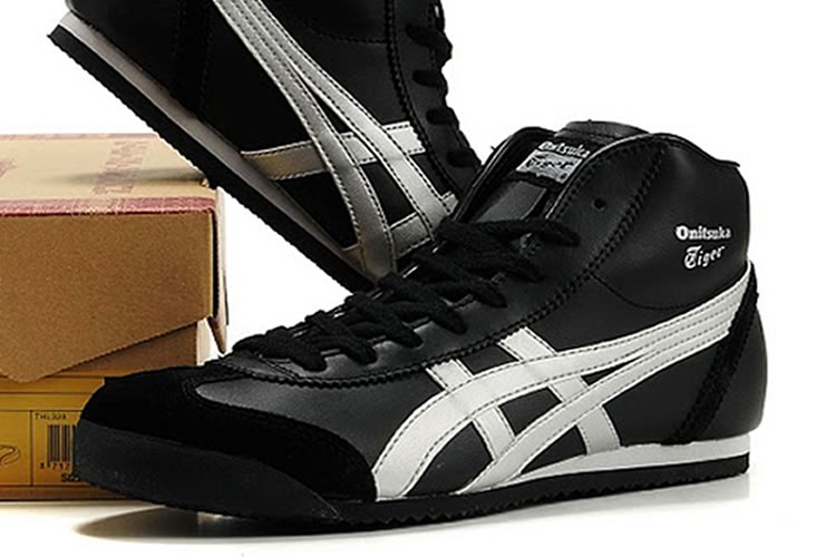 (Black/ Silver) Onitsuka Tiger Mid Runner Shoes