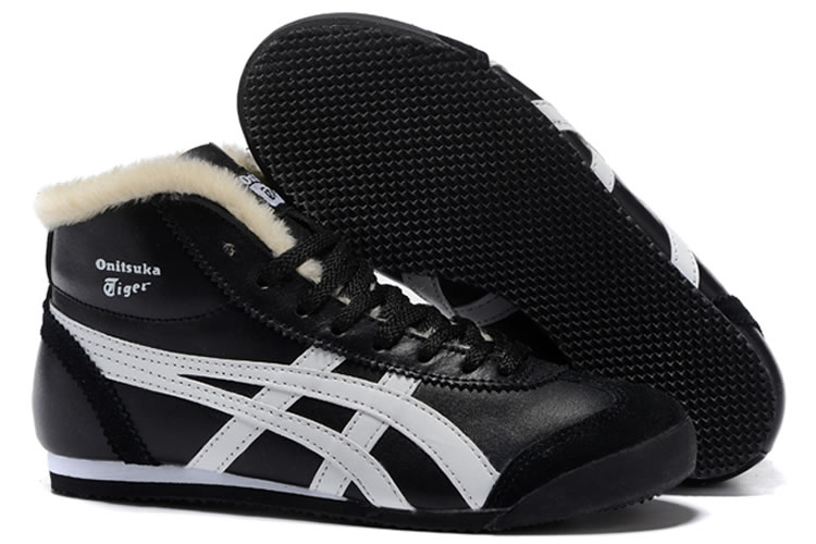 Onitsuka Tiger Mexico Mid Runner (Black/ White) Shoes