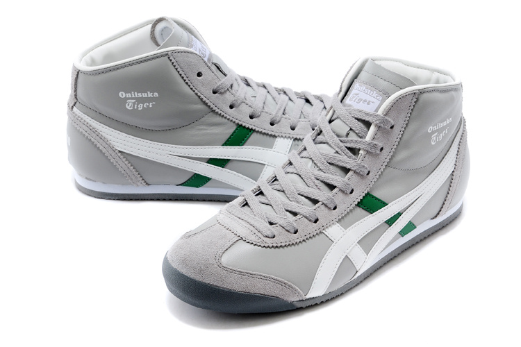Onitsuka Tiger Mid Runner (Grey/ White/ Green) Shoes