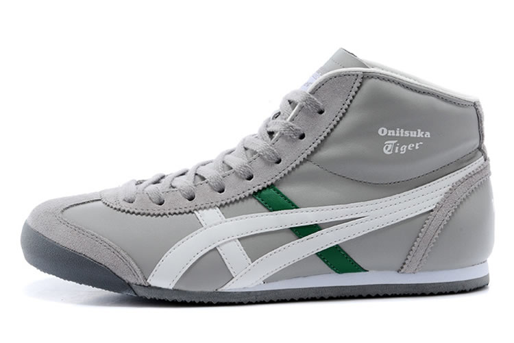 Onitsuka Tiger Mid Runner (Grey/ White/ Green) Shoes - Click Image to Close