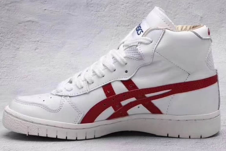 (White/ Red) Onitsuka Tiger Mid Runner (Japan) Shoes