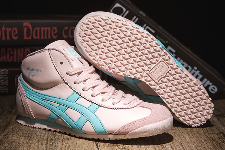 (Pink/ LT Blue) Onitsuka Tiger Mexico Mid Runner Women Shoes