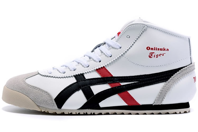 (White/ Brown/ Red) Onitsuka Tiger Mid Runner Shoes