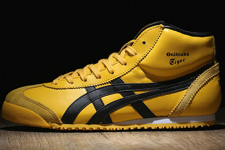 (Yellow/ Black) Onitsuka Tiger Mexico Mid Runner Shoes