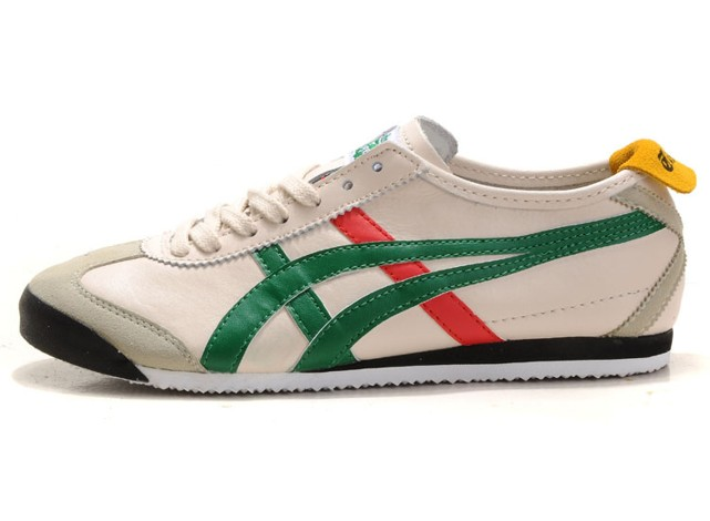 Mens Onitsuka Tiger Mexico Kanuchi Shoes Beige Green Red Black Yellow