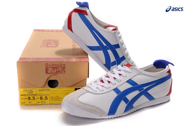 Onitsuka tiger mexico 66 shoes white blue red