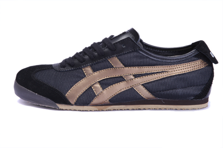 Onitsuka Tiger Mens Shoes (Black/ Gold)