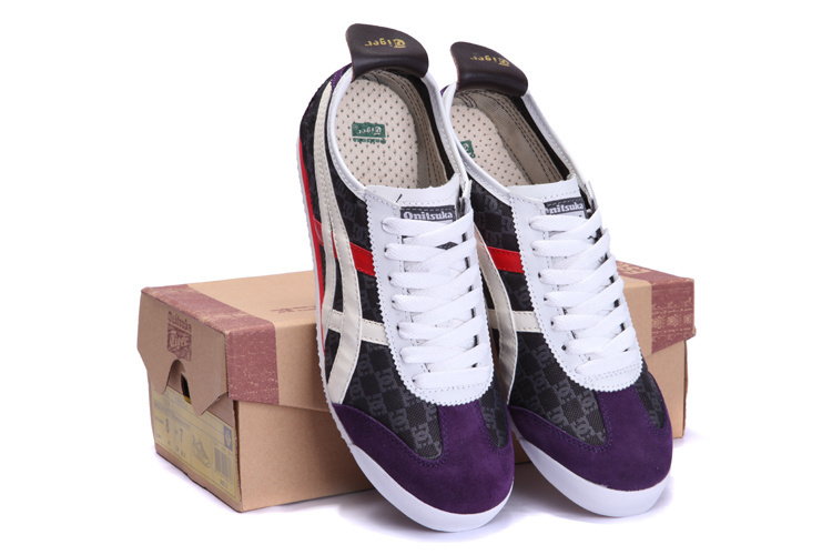 Onitsuka Tiger Mens Shoes (DG logo/ White / Red/ Purple)
