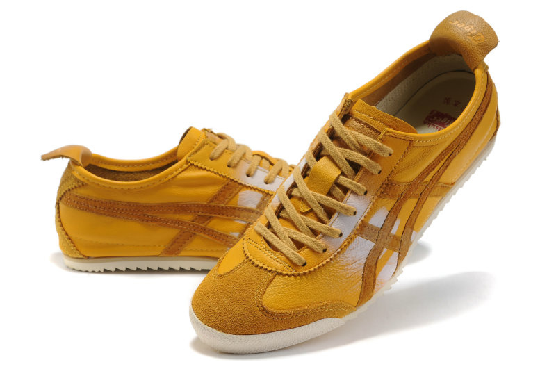 Army Yellow Onitsuka Tiger DX Mexico 66 Running Shoes