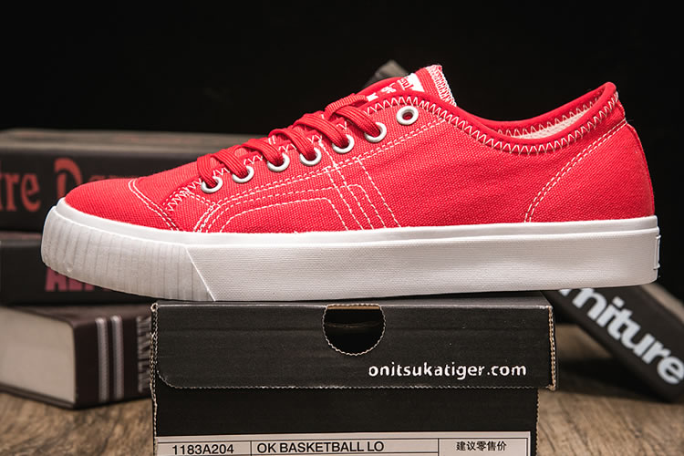 Onitsuka Tiger OK Basketall LO Red shoes - Click Image to Close
